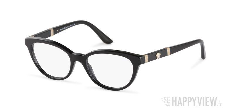 Lunettes de vue Versace VE 3219Q noir - vue de 3/4