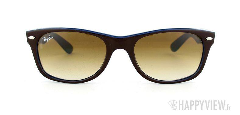 Lunettes de soleil Ray-Ban Ray-Ban New Wayfarer marron/bleu - vue de face
