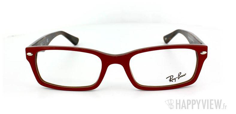 Lunettes de vue Ray-Ban Ray-Ban RX5206 rouge - vue de face