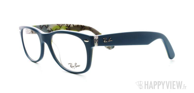 Lunettes de vue Ray-Ban Ray-Ban RX5184 New Wayfarer bleu - vue de 3/4