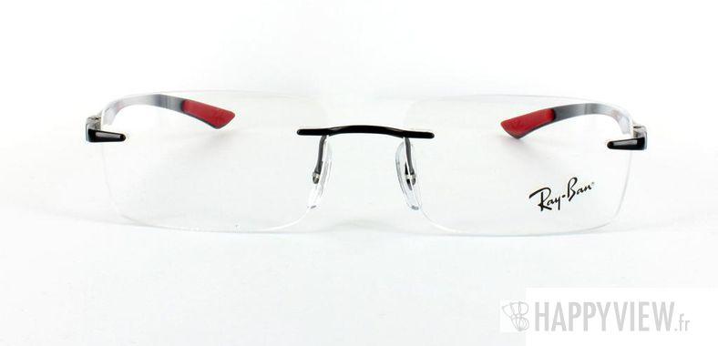 Lunettes de vue Ray-Ban Ray-Ban RX8404 Carbone rouge/noir - vue de face
