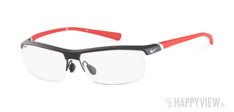Lunettes de vue Nike 7071 rouge/noir - vue de 3/4
