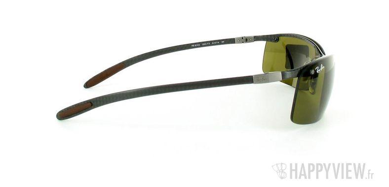 Lunettes de soleil Ray-Ban Ray-Ban Tech RB8305 noir/marron - vue de côté