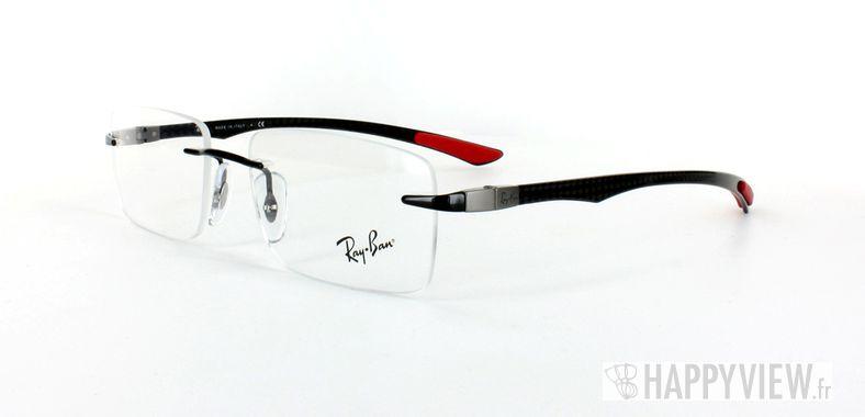 Lunettes de vue Ray-Ban Ray-Ban RX8404 Carbone rouge/noir - vue de 3/4