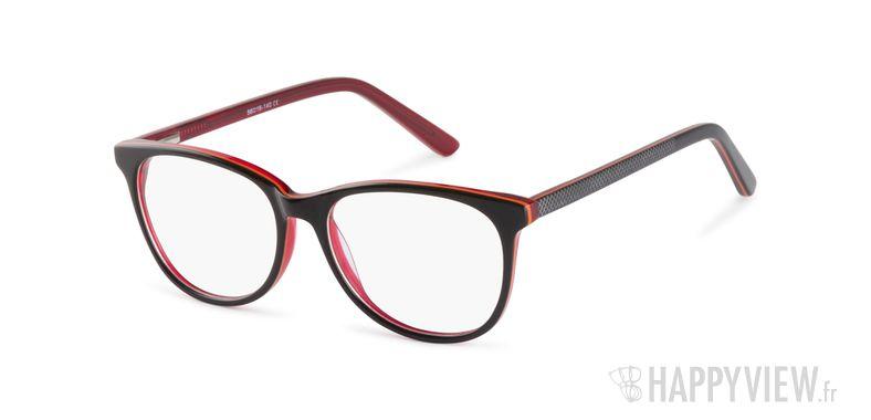 Lunettes de vue Happyview Austen marron/rouge - vue de 3/4