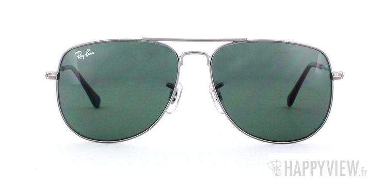Lunettes de soleil Ray-Ban Ray-Ban Junior 9532S Extra Small gris/vert - vue de face