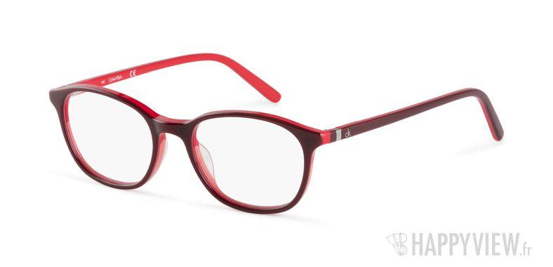 Lunettes de vue Calvin Klein CK 5878 rouge - vue de 3/4