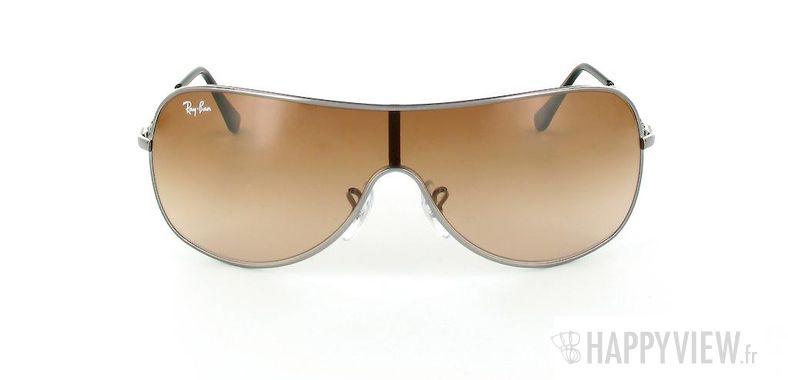 Lunettes de soleil Ray-Ban Ray-Ban Junior RJ9507S marron/gris - vue de face