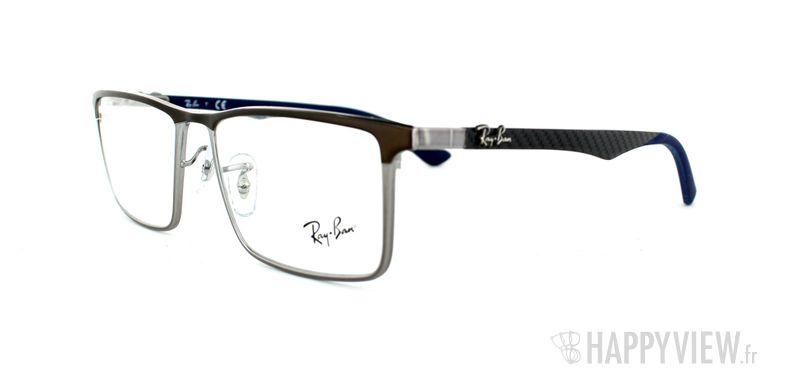 Lunettes de vue Ray-Ban Ray-Ban RX8409 Carbone argenté/marron - vue de 3/4