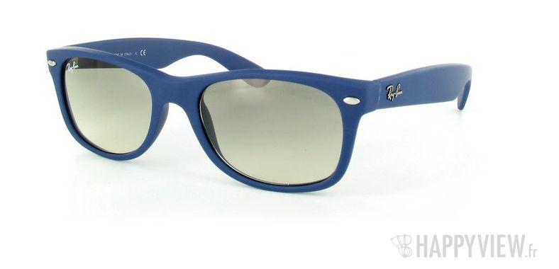 Lunettes de soleil Ray-Ban Ray-Ban New Wayfarer bleu - vue de 3/4