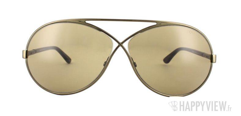 Lunettes de soleil Tom Ford Tom Ford Georgette marron - vue de face