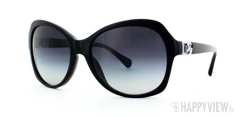 Lunettes de soleil Dolce & Gabbana Dolce & Gabbana 4163P noir - vue de 3/4