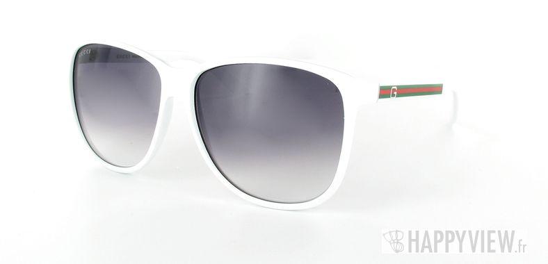 Lunettes de soleil Gucci Gucci 1636 blanc - vue de 3/4