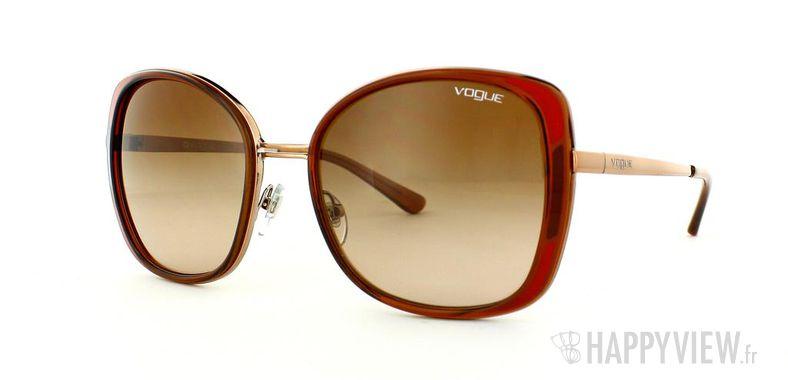 Lunettes de soleil Vogue Vogue 3801 marron/doré - vue de 3/4