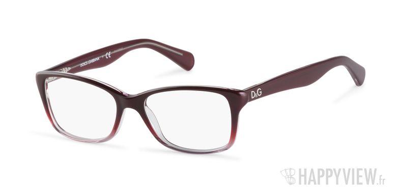 Lunettes de vue Dolce & Gabbana DD 1246 rouge - vue de 3/4