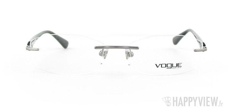 Lunettes de vue Vogue Vogue 3797 noir/gris - vue de face
