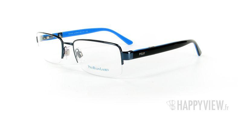 Lunettes de vue Polo Ralph Lauren Polo Ralph Lauren 1060 Large noir/bleu - vue de 3/4