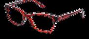 Lunettes de vue Happyview VICTOIRE rouge - vue de 3/4 miniature