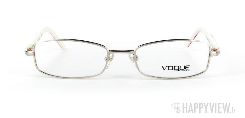 Lunettes de vue Vogue Vogue 3744 argenté/rouge - vue de face